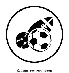 sport, piłki, ikona