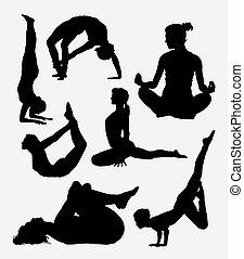 sport, pilates, sylwetka, samica