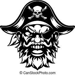 sport, pirata, mascotte