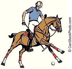sport, polo, equestre