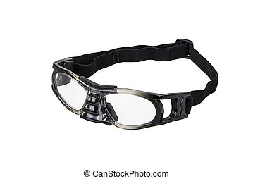 Sport protective glasses - Sport glasses on perfectly white...