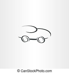 sport racing car stylized icon