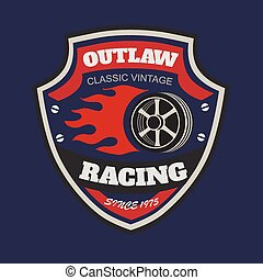 Sport racing typography, t-shirt graphics, vectors. T-shirt vintage printing designs
