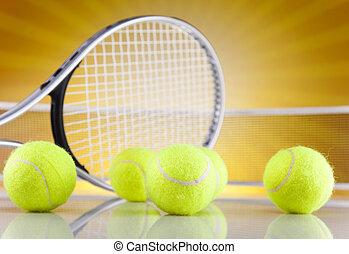 sport, raquette, boules tennis