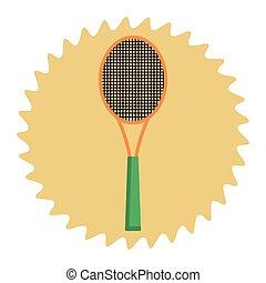 sport raquette, dessin animé