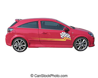sport red race car