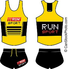 Creative design of sport runner shirt