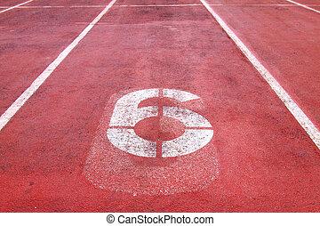 sport running track
