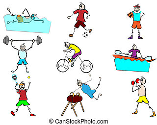 sport, rysunek, ilustracja, avatars