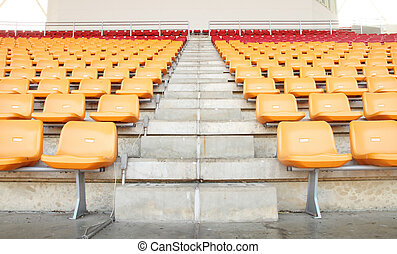 sport, schritte, stadion