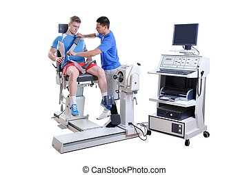 sport, scienziato, fare, esecuzione, assessment., tecnologia moderna