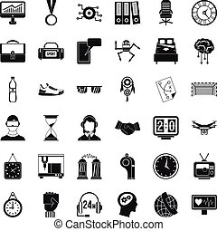 Sport score icons set, simple style