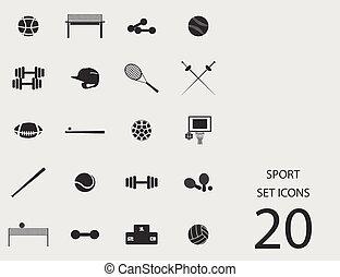 Sport set of flat icons. Vector illustration