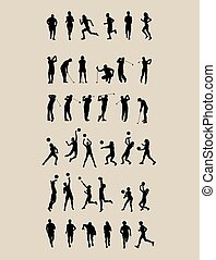 Sport Set Silhouettes