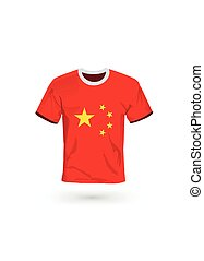 Sport shirt in colors of China flag.