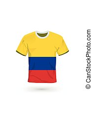Sport shirt in colors of Colombia flag.