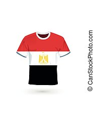 Sport shirt in colors of Egypt flag.