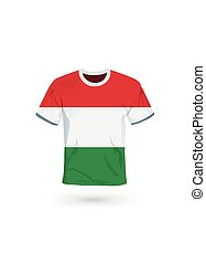 Sport shirt in colors of Hungary flag.
