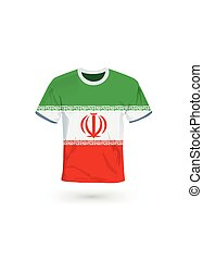 Sport shirt in colors of Iran flag.