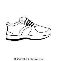 sport shoe icon, flat design