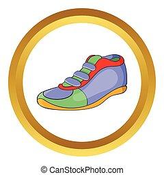Sport shoe vector icon