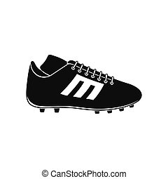 Sport shoe with cleats black simple icon