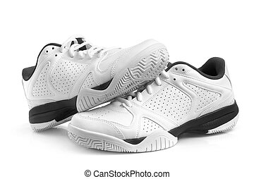 Sport shoes pair on a white background