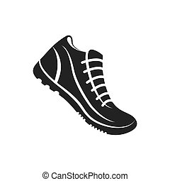 running shoes sport competition concept vector illustration rh canstockphoto com running shoes vector png running shoe vector