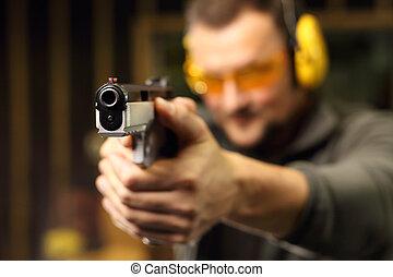 Sport shooting range.