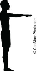 sport, silhouette, homme