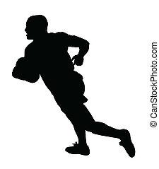 Rugby Speedster Running - Sport Silhouette - Rugby Speedster...