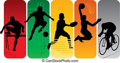 sport, silhouetten