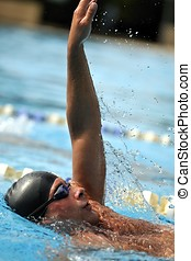 sport, -, simning