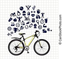 Sport sketch icon set