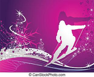 sport, ski, hintergrund