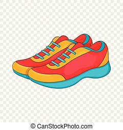 Sport sneakers icon, cartoon style