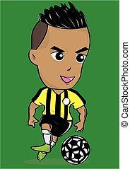 Sport Soccer or Football player Cartoon