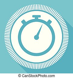 sport speed stopwatch icon blue flat design vector illustration in eps 10