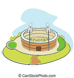 Sport Stadium - illustration of sport stadium on abstract...