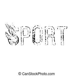 Sport stamp illustration