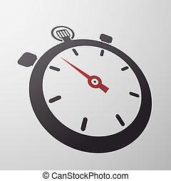 sport stopwatch. Stock illustration.