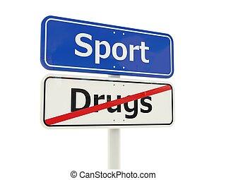 sport, straße zeichen