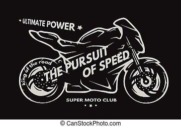 Sport superbike motorcycle Labels badges emblem t shirt design.