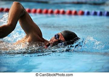 sport, -, svømning