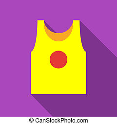 Sport t-shirt icon, flat style