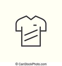 Sport t-shirt line icon