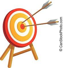 Sport target icon, cartoon style