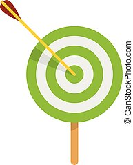 Sport target icon, flat style