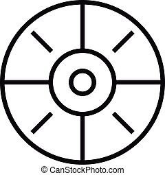 Sport target icon, simple style.