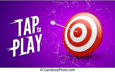 Sport target win concept. Business success symbol. Play dart game illustration design
